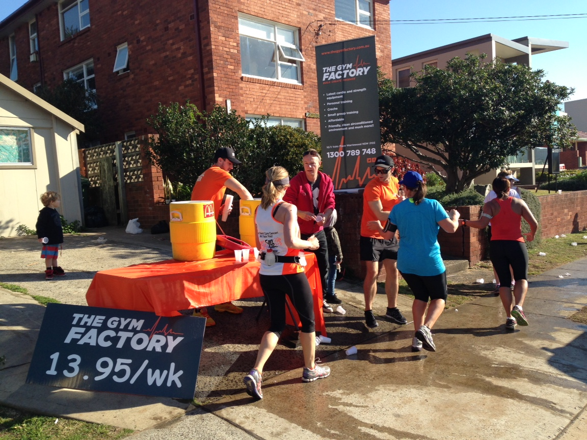 The Gym Factory Crew Water Station on The Day